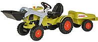 Педальный трактор-погрузчик Claas с прицепом (005 6553)
