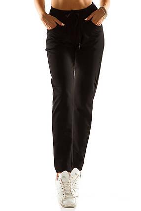 Женские спортивные штаны 714  черные, фото 2