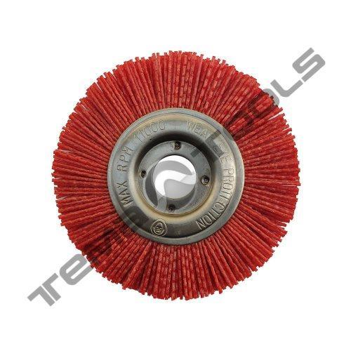 Щетка полимерно абразивная Пиранья Ø125x12x22 P120 красная на УШМ