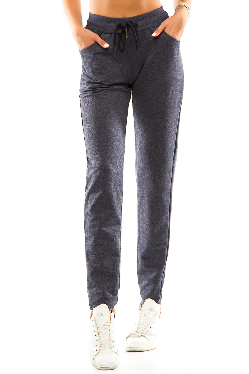 Женские спортивные штаны 714  джинс