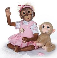 Обезьянка реборн Леля,кукла реборн обезьянка.Арт.(01387)