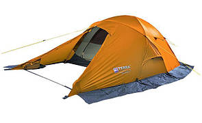 Туристическая двухместная палатка Terra Incognita Baltora 2 Alu силикон. оранжевая