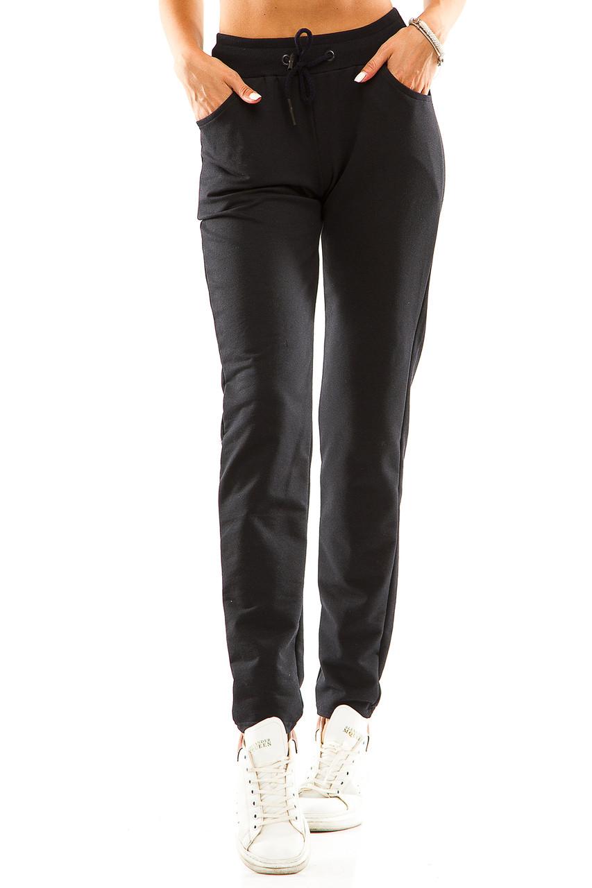 Женские спортивные штаны 714  темно-синий