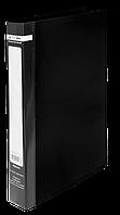 Папка на 2-х кольцах Buromax Jobmax А4 ширина торца 25 мм чёрная
