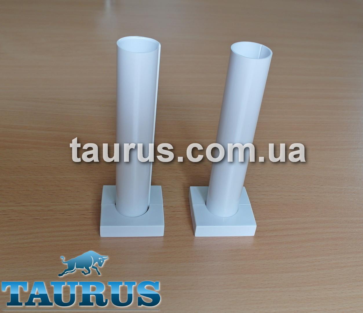 Разборный маскировочный комплект трубки с фланцем для скрытия труб подключения и провода от электроТЭНа, белый