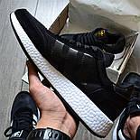 Мужские кроссовки Adidas Iniki Runner 'Core Black' черныелетние весенние. Живое фото (Реплика ААА+), фото 4