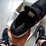 Мужские кроссовки Adidas Iniki Runner 'Core Black' черныелетние весенние. Живое фото (Реплика ААА+), фото 5