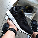 Мужские кроссовки Adidas Iniki Runner 'Core Black' черныелетние весенние. Живое фото (Реплика ААА+), фото 6