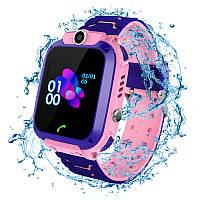 Детские водонепроницаемые смарт-часы с GPS JETIX DF22 Aqua Camera (Pink)