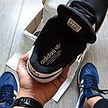 Мужские кроссовки Adidas Iniki Runner черные с белым летние весенние. Живое фото (Реплика ААА+), фото 2