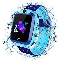 Детские водонепроницаемые смарт-часы с GPS JETIX DF22 WiFi Edition оригинальные с телефоном и камерой (Blue)