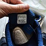Мужские кроссовки Adidas Iniki Runner синий с белым летние весенние. Живое фото (Реплика ААА+), фото 3