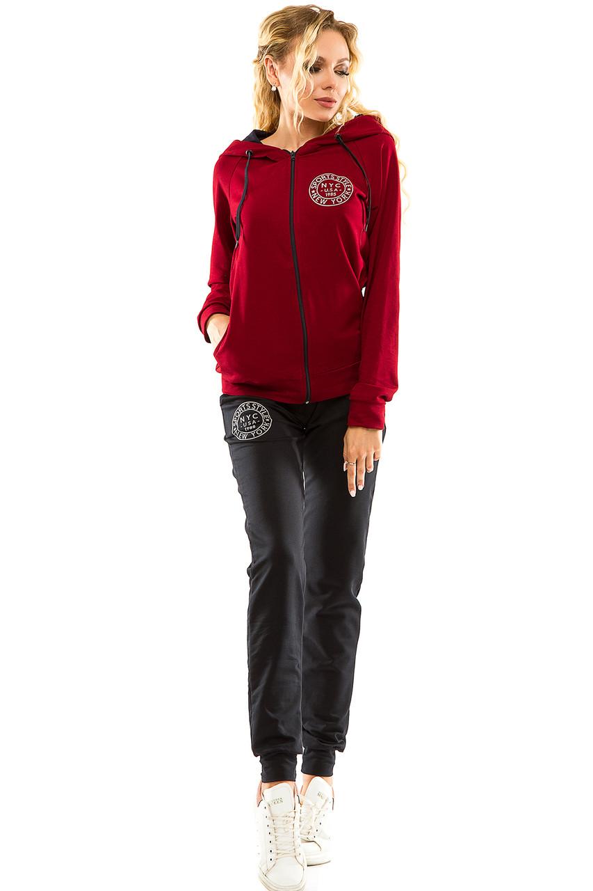 Спортивный костюм 713 бордо размер 44