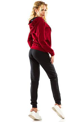 Спортивный костюм 713 бордо размер 44, фото 2