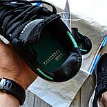 Мужские кроссовки Adidas EQT Support ADV черные с зеленым летние в сетку. Живое фото (Реплика ААА+), фото 7