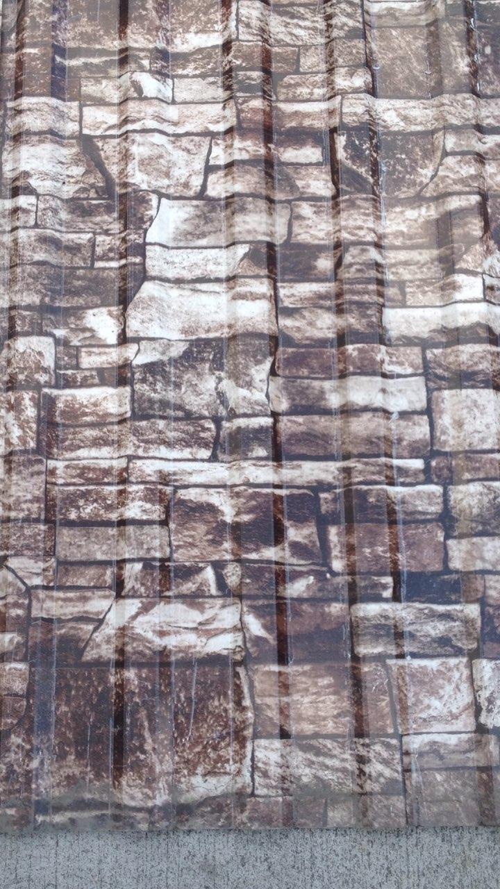 Профнастил для забора с рисунком под  камень  2мХ1,17м РАСПРОДАЖА
