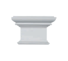 Капитель  Classic Home P090-D, лепной декор из полиуретана.