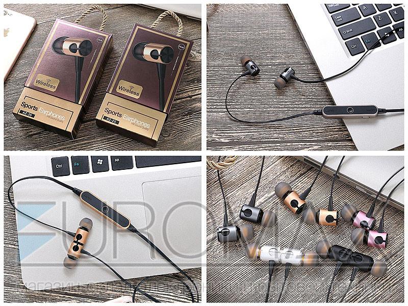 Наушники вакуумные с микрофоном Bluetooth магнит 200шт AZ-25-BT