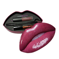 Набор 3 в 1 Huda Beauty малиновые губы