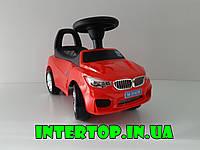 Детская машина-толокар-каталка BMW,с музыкой и светом фарколеса с резиновым покрытием,Bambi M 3147B-3 красная