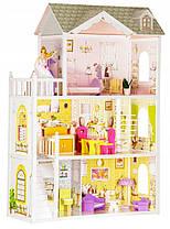Мега великий ігровий ляльковий будиночок для барбі Ecotoys 4108 Beverly 124см!, фото 2