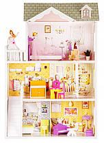Мега великий ігровий ляльковий будиночок для барбі Ecotoys 4108 Beverly 124см!, фото 3