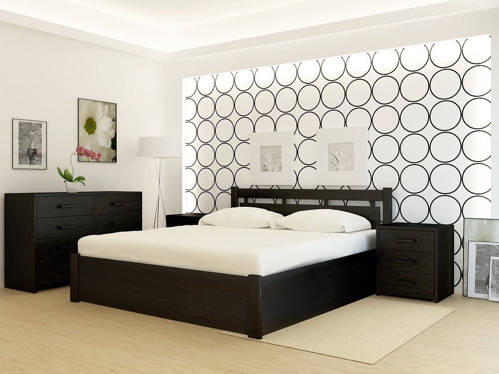 """Кровать деревянная TM """"YASON"""" Hong Kong PLUS с подъемным механизмом Белый и RAL (Массив Ольхи либо Ясеня)"""