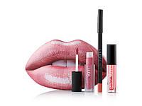 Набор 3 в 1 Huda Beauty розовые губы