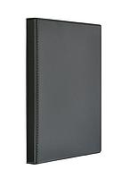 Папка с передним прозрачным карманом на кольцах Panta Plast Панорама А4, ширина торца 25 мм, чёрная