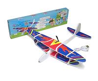 Метательный самолет планер с пропеллером и USB зарядкой