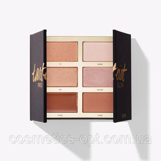 Палетка для контурирования Tarte Tarteist PRO Glow Highlight & Contour Palette 6 Color (реплика)