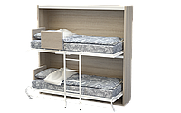 Шкаф кровать двухъярусная MOON 90