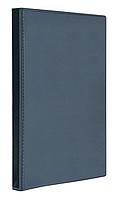 Папка с передним прозрачным карм на кольцах Panta Plast Панорама А4, ширина торца 40 мм, тёмно-синяя