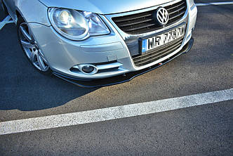 Диффузор переднего бампера губа сплиттер тюнинг Volkswagen EOS