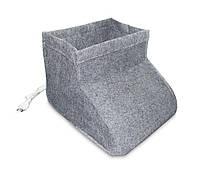 Грелка для ног электрическая, Сапожок, инфракрасная, цвет - серый, Трио, 1000713-Gray-0