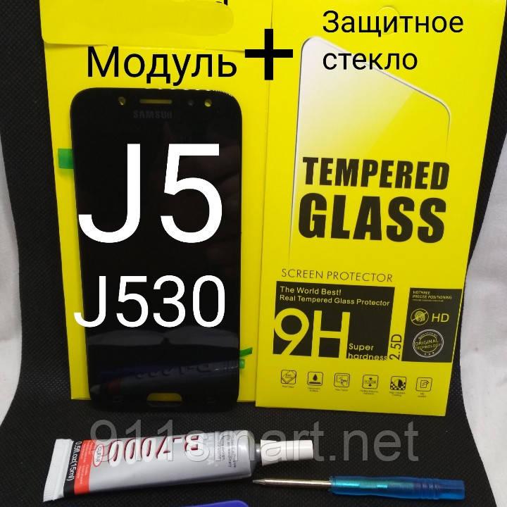 Дисплейный модуль для Samsung Galaxy j5 j530f чёрный 2017 год