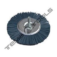 Щетка абразивная Пиранья Ø100 P180 синяя на дрель дисковая