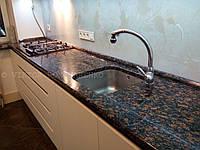 Кухонная столешница из украинского гранита Брусиловский, кухонные столешницы из натурального камня
