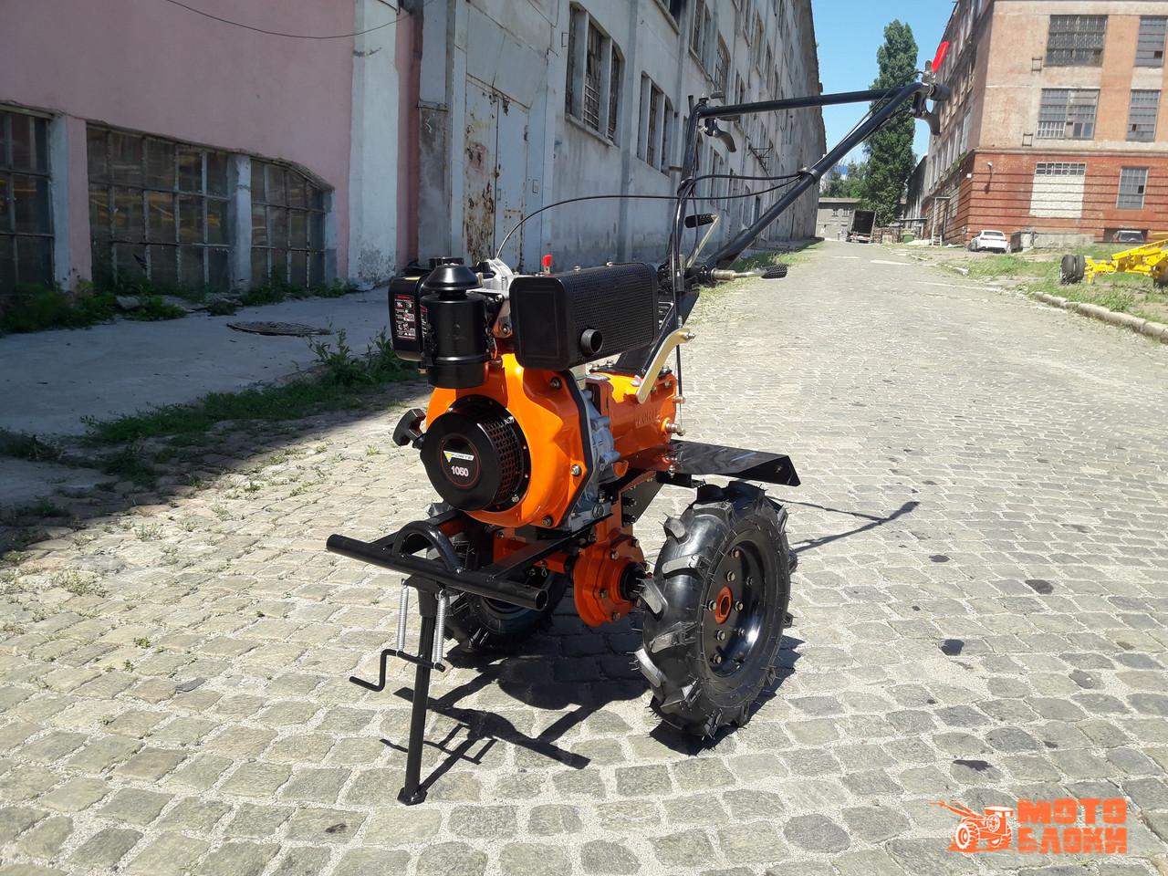 """Дизельный культиватор Forte 1050 колёса 10"""" (Оранжевый)"""