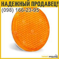 Катафот круглый с пластмассовым корпусом липучка (оранжевый) | ФП-315
