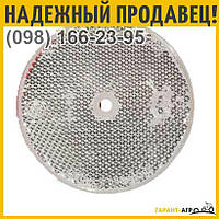 Катафот круглый с крепежным отверстием по центру (белый) | ФП-319