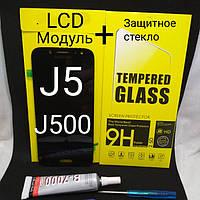 Дисплейный модуль, тачскрин Samsung Galaxy J5 2015 год j500fn, j500f черный