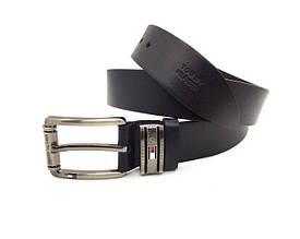 Мужской кожаный брючной ремень в стиле Tommy Hilfiger(040) черный