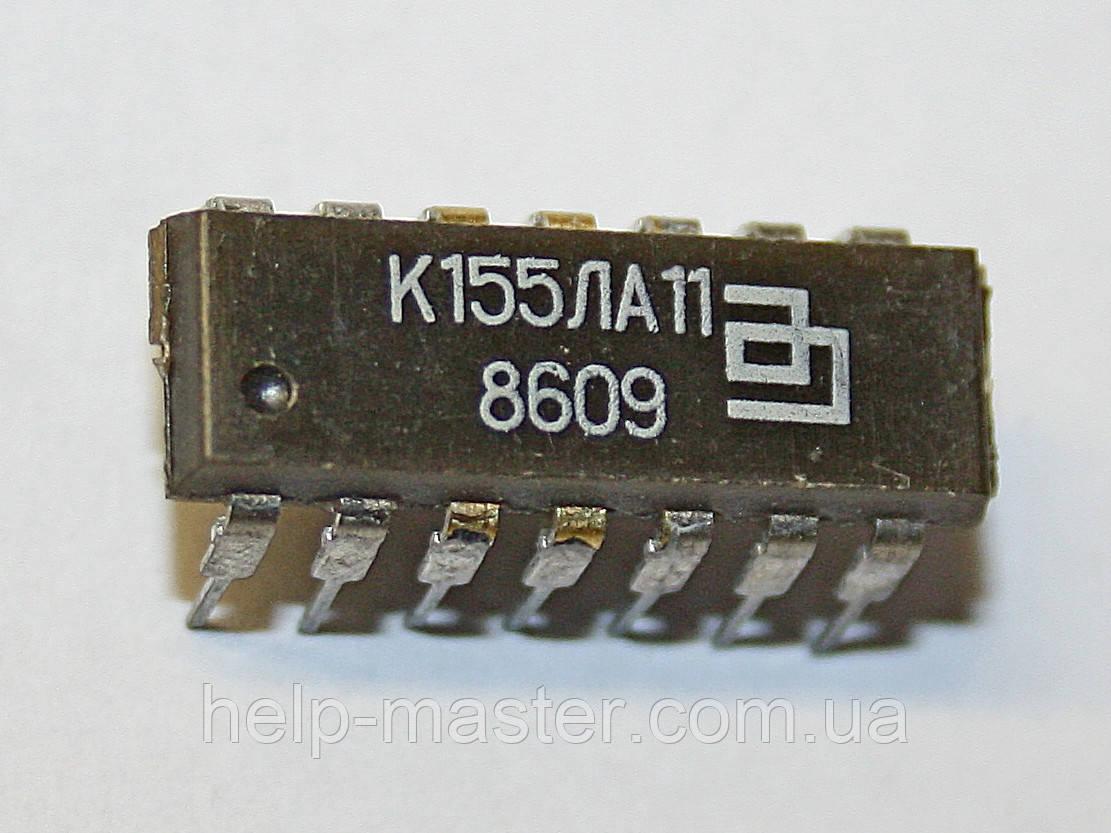 Микросхема К155ЛА11 (DIP-14)