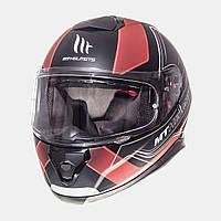 Мото шлем  MT Helmets THUNDER 3 SV TRACE MATT BLACK/RED