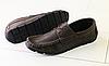 Мокасины мужские коричневые кожаные