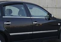 Хром накладки на ручки Volkswagen Bora 1998-2004 гг. (фольксваген бора), нерж.