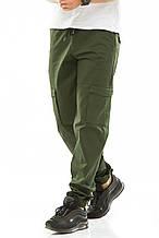 Мужские джоггеры с боковыми карманами 708 зеленые