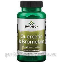 Кверцетин и Бромелайн, Quercetin & Bromelain, Swanson, 250/78 мг, 100 капсул