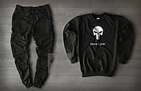 """Спортивный костюм мужской """"Memento Mori"""" Black осенний   Комплект весенний Свитшот + штаны ТОП качества"""